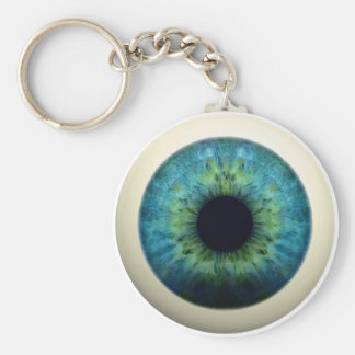 EYEBALL! (A great Halloween novelty item!) ~ Basic Round Button Key Ring