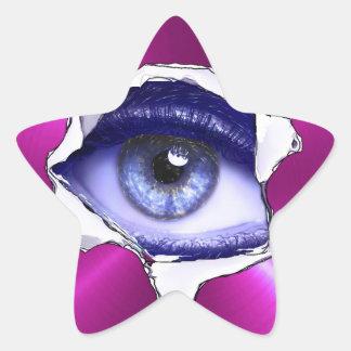 Eyeball Blue and Purple Scary Sticker
