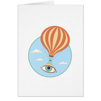 Eyeball Hot Air Balloon Greeting Card