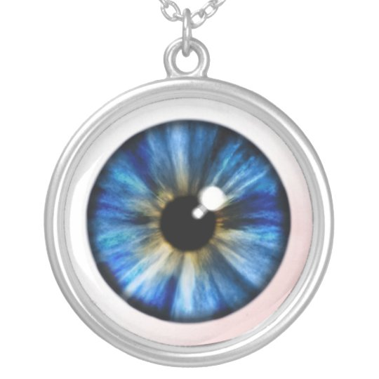EyeBall Necklase Silver Plated Necklace