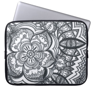 Eyed Flower Mandala Laptop Sleeve