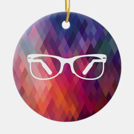 Eyeglasses Functions Pictograph Christmas Ornament