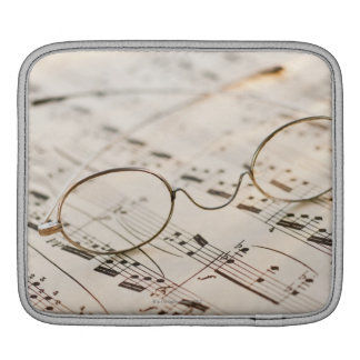 Eyeglasses on Sheet Music iPad Sleeve