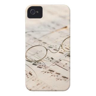 Eyeglasses on Sheet Music iPhone 4 Case-Mate Cases