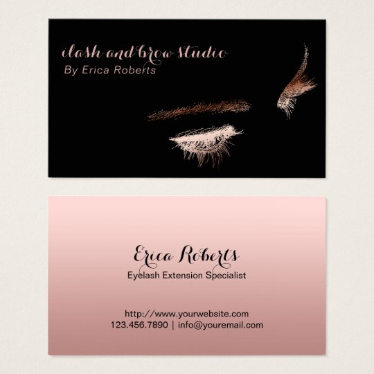Eyelash & Brow Makeup Artist Rose Gold Foil