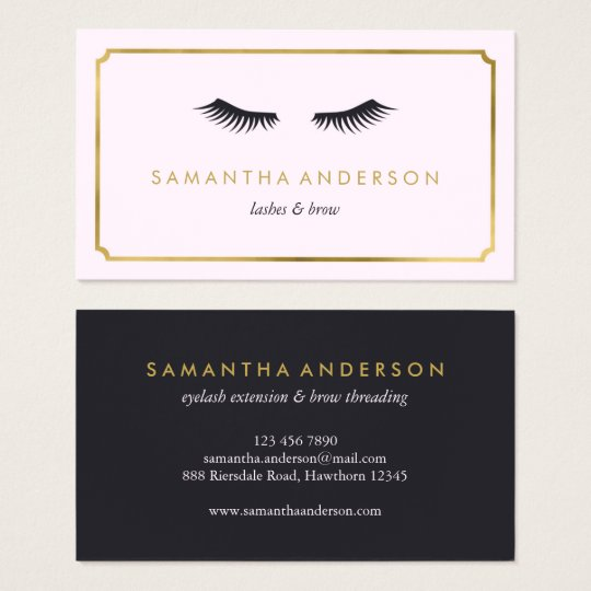 Eyelash Extension, brow, beautician business cards