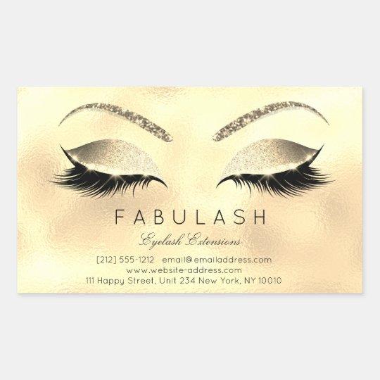 Eyelash Extension Makeup Beauty Salon Glam Glitter Rectangular
