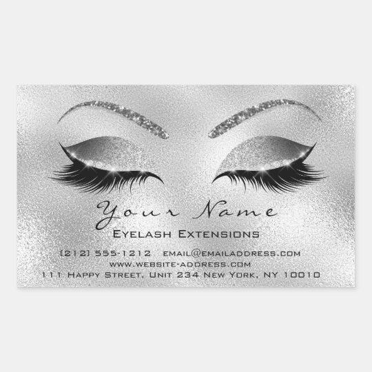Eyelash Extension Makeup Beauty Salon Silver VIP Rectangular