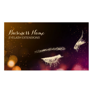 Eyelash Extensions Abstract Bokeh Lights Modern Pack Of Standard Business Cards