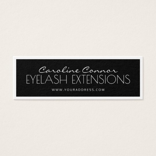 Eyelash Extensions Black & White Bordered Card