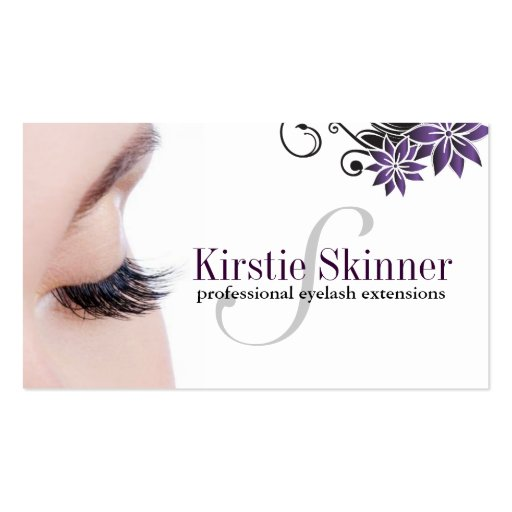 Collections of eyelash extensions business cards for Eyelash business card