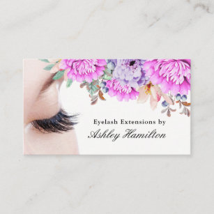 Eyelash extensions business cards business card printing zazzle uk eyelash extensions business cards colourmoves