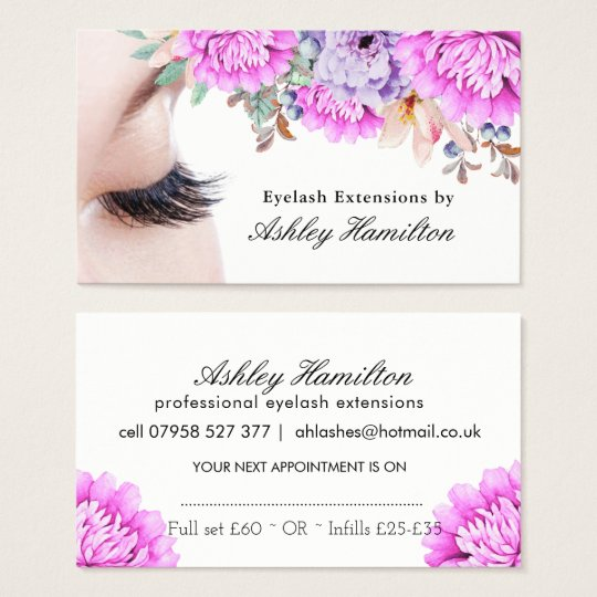Eyelash Extensions Business Cards