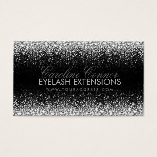 Eyelash Extensions Glitter Star Rain Business Card