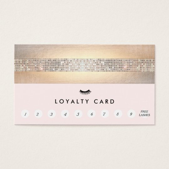 Eyelash Extensions Lash Customer Loyalty Punch Business Card