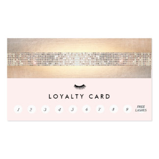 Eyelash Extensions Lash Customer Loyalty Punch Pack Of Standard Business Cards