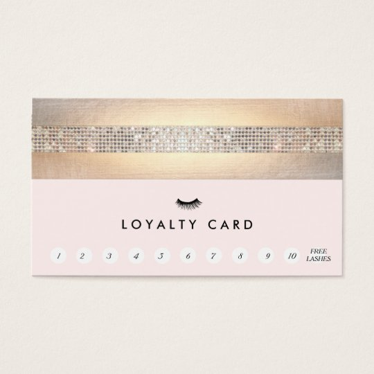 EyeLash Extensions Pink Customer Loyalty 11 Punch Business