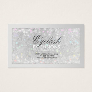 Eyelash Extensions Silver Glitter Card