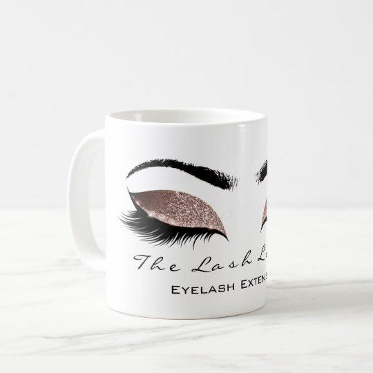 Eyelash Extention Beauty Coffe Chocolate Glitter Coffee Mug