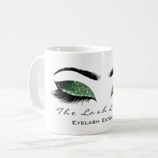 Eyelash Extention Beauty Studio Sage Cali  Glitter Coffee Mug