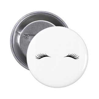 Eyelashes 6 Cm Round Badge
