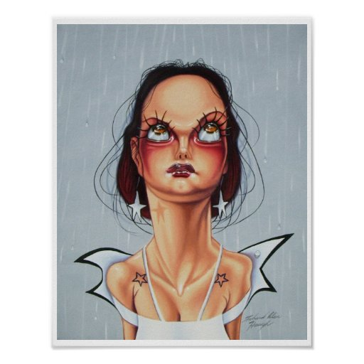 Eyelashes and Earrings Poster