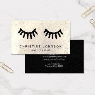 eyelashes business card