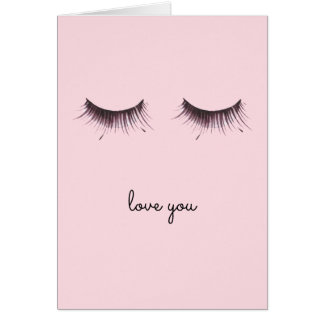 Eyelashes Card