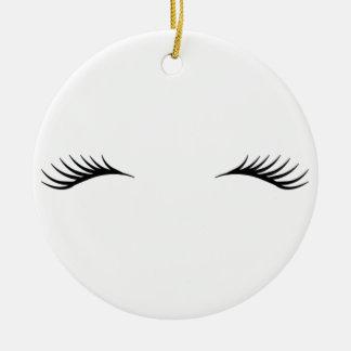 Eyelashes Christmas Ornament