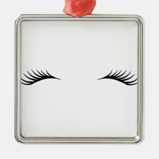 Eyelashes Christmas Ornament