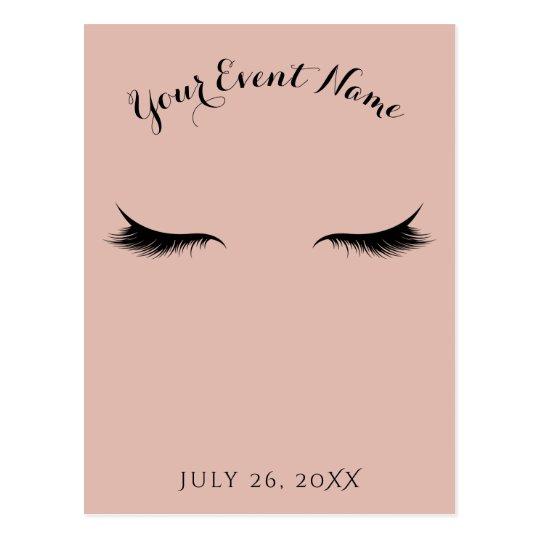 Eyelashes Lashes Beauty Salon Spa Makeup Event Postcard