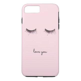 Eyelashes love you iPhone 8 plus/7 plus case