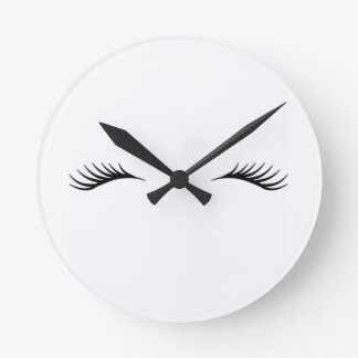 Eyelashes Round Clock