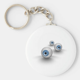 Eyes Basic Round Button Key Ring