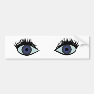 eyes bumper sticker
