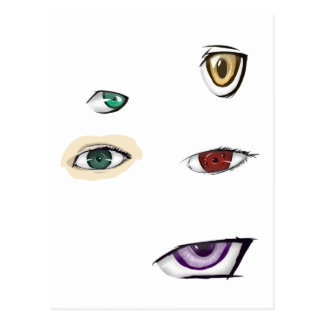 eyes heart post cards