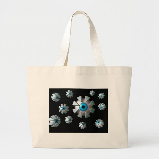Eyes In Space Canvas Bags