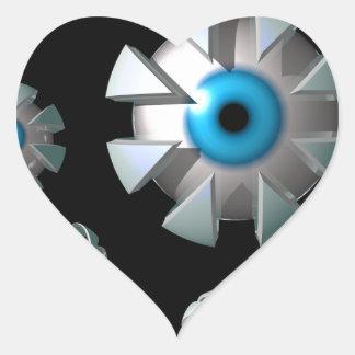 Eyes In Space Heart Sticker