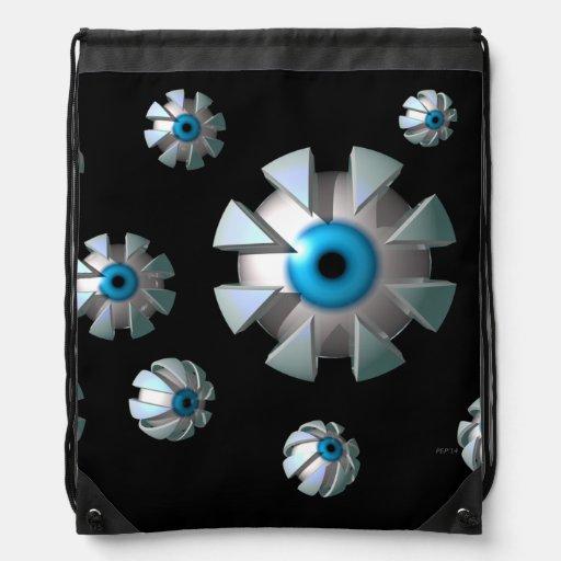 Eyes In Space Cinch Bag
