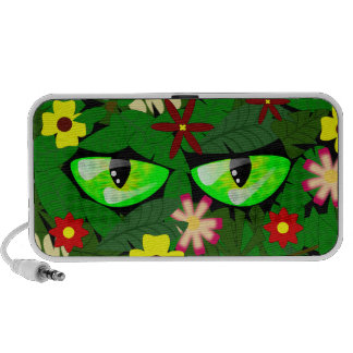 Eyes in the jungle Doodle Laptop Speakers