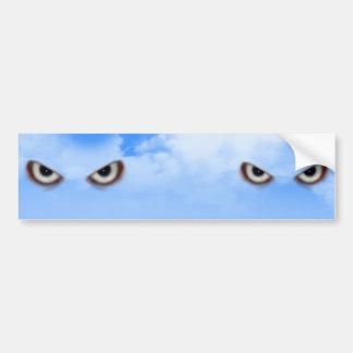 Eyes in the sky........ bumper sticker