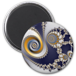 Eyes in the Sky - Fractal 6 Cm Round Magnet
