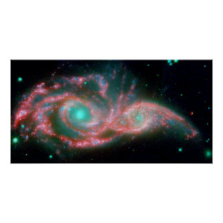 Eyes in the sky NGC 2207 NASA Poster