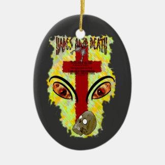 Eyes Like Blazing Fire - Revelation 1:14-18 Christmas Tree Ornaments