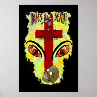 Eyes Like Blazing Fire - Revelation 1:14-18 Poster