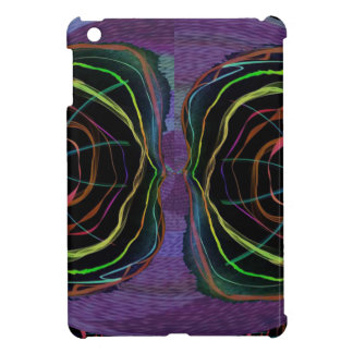 EYES Line Art Alien Sparkle Round Circle Oval Case For The iPad Mini