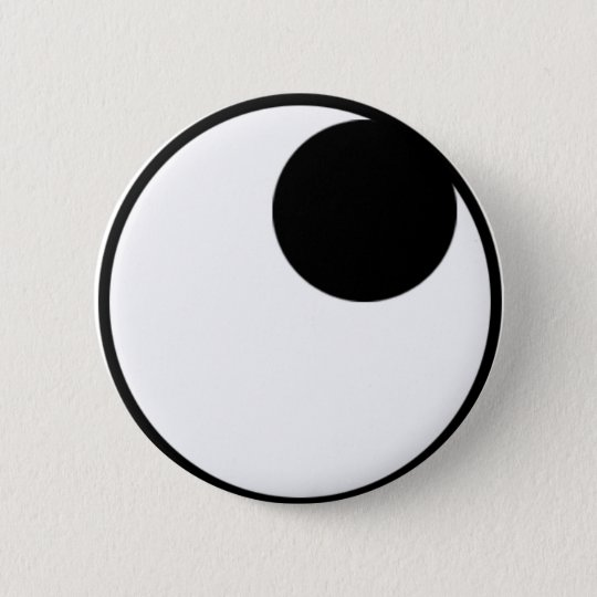 Eyes Looking Up Right 6 Cm Round Badge