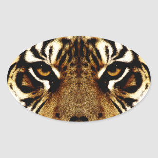 Eyes of a Tiger Oval Sticker
