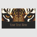 Eyes of a Tiger Personalised Rectangular Sticker