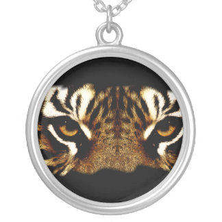 Eyes of a Tiger Silver Plated Necklace